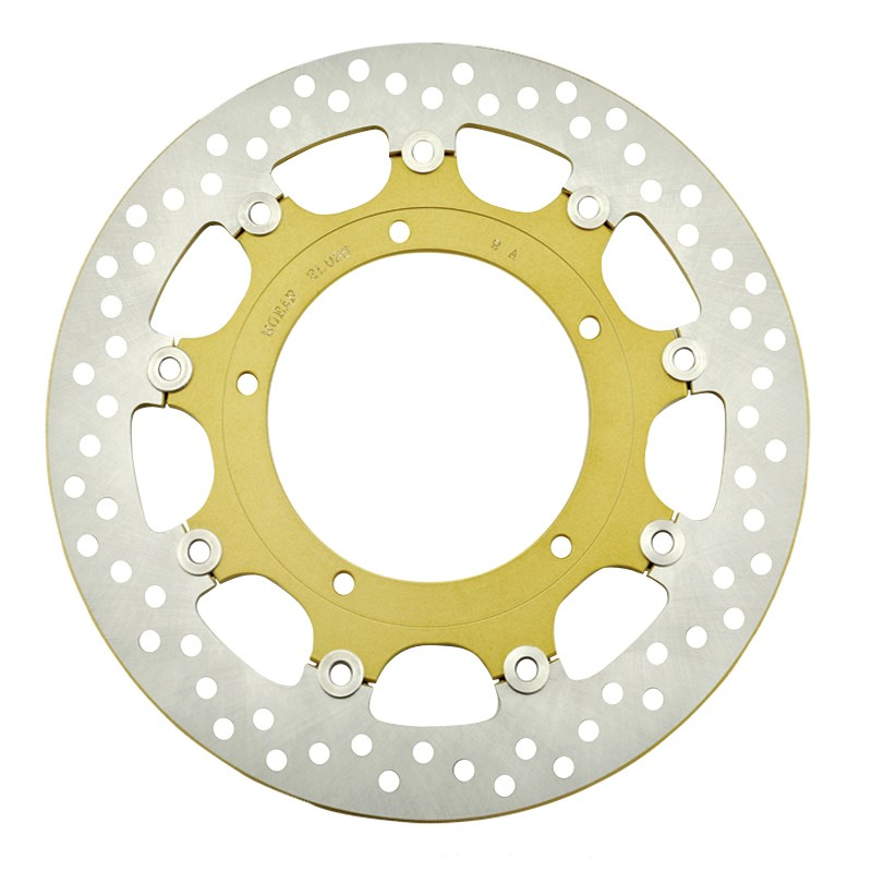 Front Brake Rotor Disc For Yamaha YZF-R1 1000 Rad.cal 2007-2008 YZFR1 07 08 OE Style Gold Color 5mm Thick keoghs motorcycle brake disc brake rotor floating 260mm 82mm diameter cnc for yamaha scooter bws cygnus front disc replace