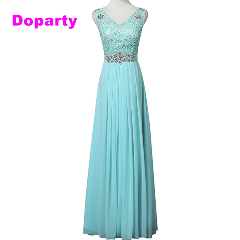 Doparty Cheap Elegant Long Lace appliques custom size robe de soiree Party   Evening     Dress   2018 New Arrival Formal   Dresses