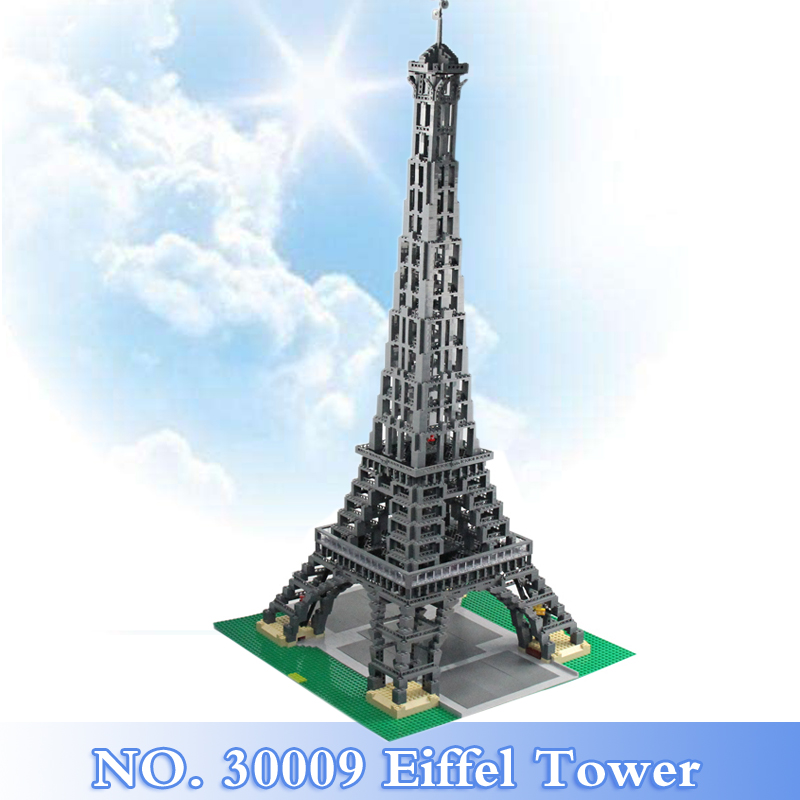 2018 New City Creator Series 3478Pcs The Eiffel Tower Figures Building Blocks Bricks Set Children Toy Model Kit Compatible 10181 lepin 17002 3478pcs paris eiffel tower model kits building blocks bricks toys compatible 10181 for children gift