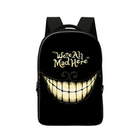 Crazy School Backpacks For Teenagers Computer Bag Fashion Skull Bookbags For Elementary Students Fashion Day Pack