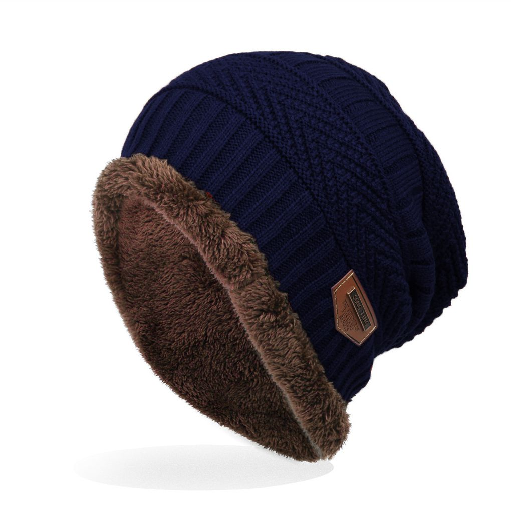 71595928 Men's Labeling Knitted Hats fibres Wool Caps Winter 6 Colors choic  24*29cm-in Men's Skullies & Beanies from Apparel Accessories