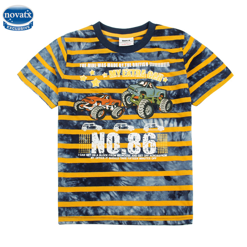 novatx C2481 nova kids fashion design carton style short sleeves t-shirt for baby boys wear boys t-shirt baby boys clothes