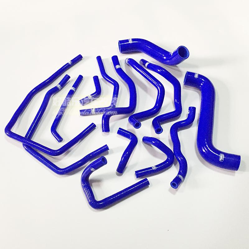PERFORMACE RADIATOR SILICONE HOSE KITS FOR SUBARU IMPREZA WRX STI GDA GDB GGB 14PCS BLUE aluminium intercooler hard pipe piping hose kit for wrx impreza gda gdb 00 05 blue