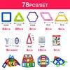 New Magnetic Building Blocks Set 3D DIY Enlighten Creator Bricks Plastic Blocks Educational Toys For Kids
