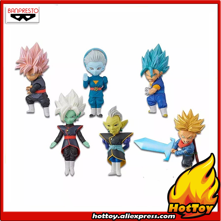 Banpresto World Collectable Figure WCF Collection Figure Vol.7 - Set of 6 Pcs Vegetto Goku-Black Trunks Zamasu Dragon Ball SUPER original banpresto world collectable figure wcf the historical characters vol 3 full set of 6 pieces from dragon ball z
