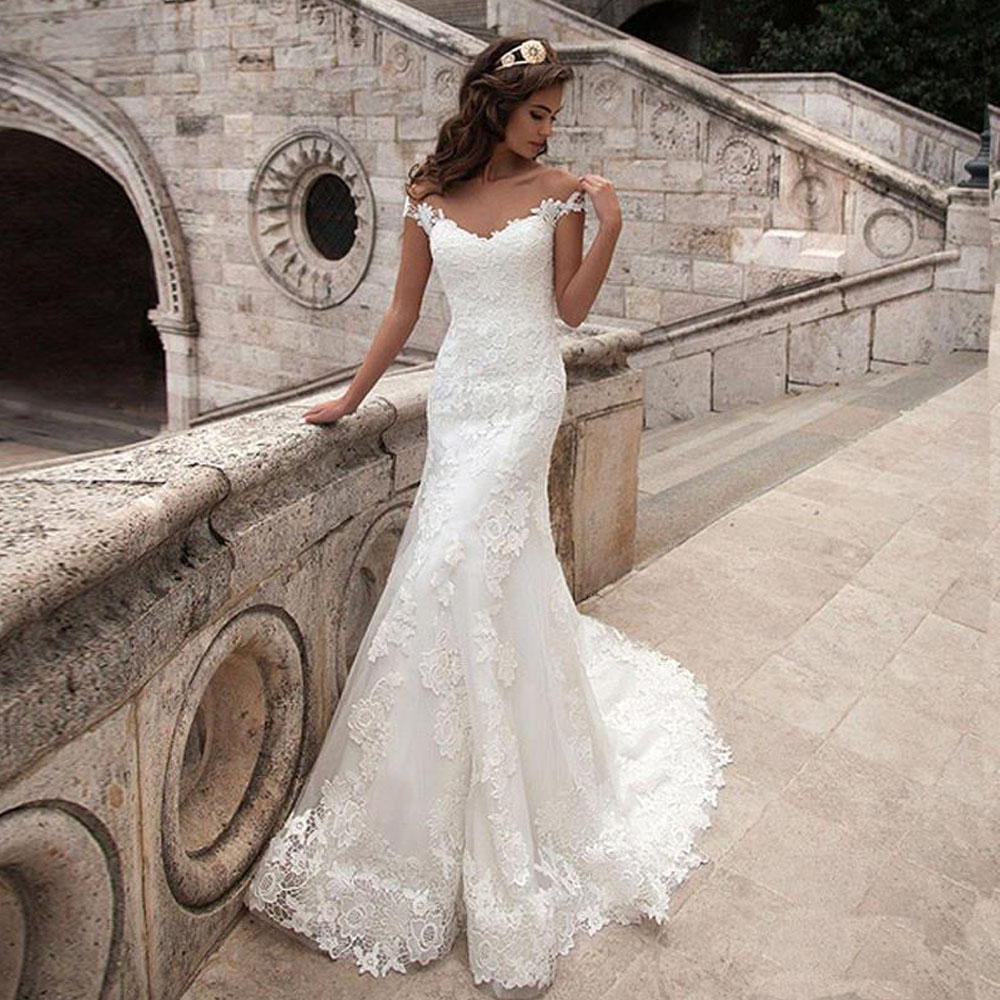 Sweetheart Neckline Lace Mermaid Wedding Dresses New 2019: Mermaid Wedding Dress Sleeveless Vestidos De Novia 2019