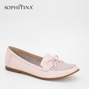 SOPHITINA/мягкие балетки на плоской подошве; Обувь из натуральной кожи с бантом-бабочкой; Удобная женская обувь для отдыха на плоской подошве с к...