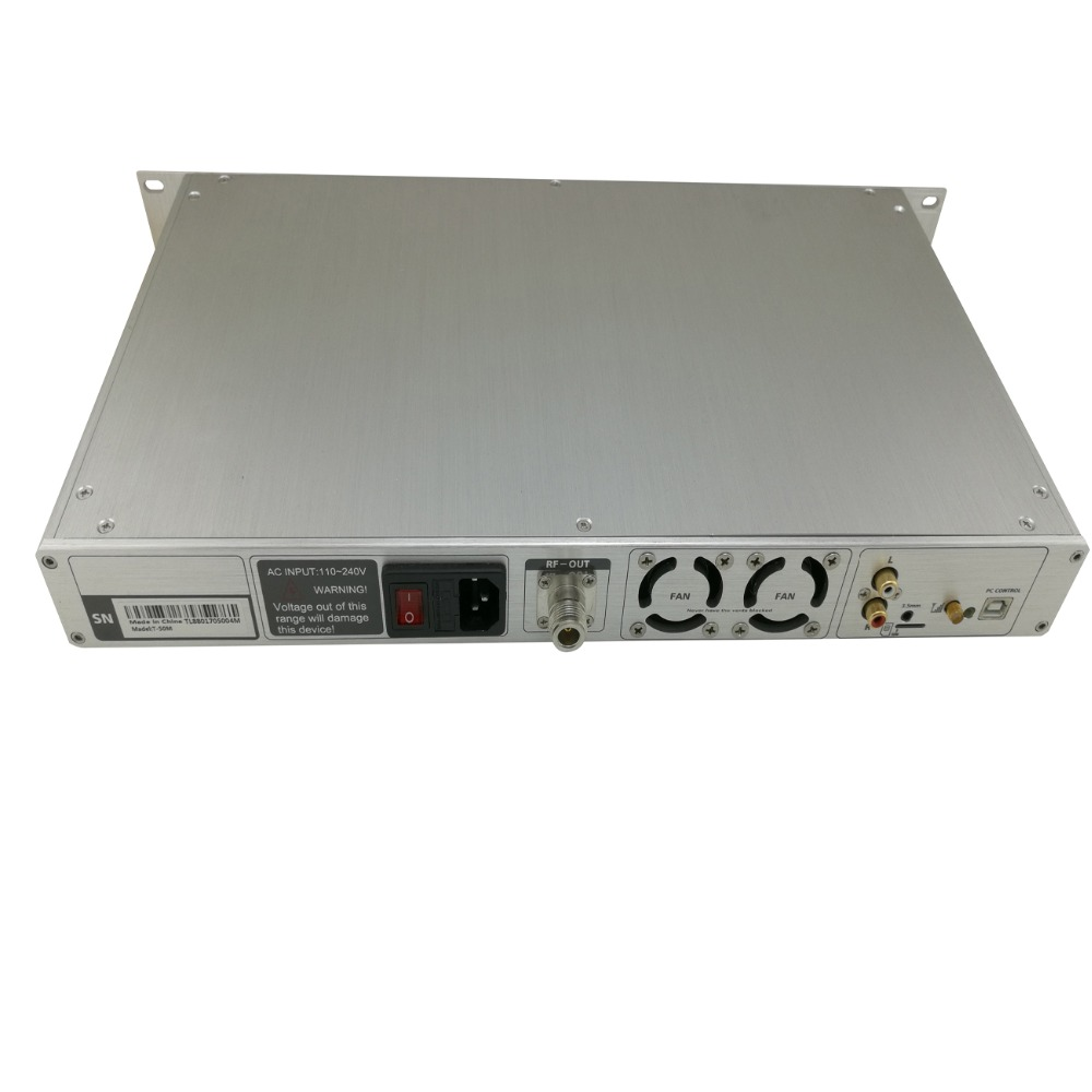 Manufacturer Free Shipping 0-<font><b>50W</b></font> Scheduled Task Play NIO-T50M <font><b>fm</b></font> pll <font><b>Transmitter</b></font> with 1/4 Wave Aluminum Antenna with Cable image