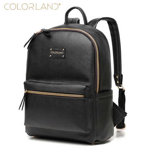 colorland leather backpack baby diaper bag nappy bags maternity mommy mummy changing bag wet. Black Bedroom Furniture Sets. Home Design Ideas