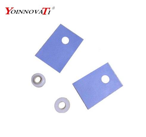 100pcs TO-220 Silicon Rubber Pad Insulation Silicon Heatsink Silicon She R.USHPP