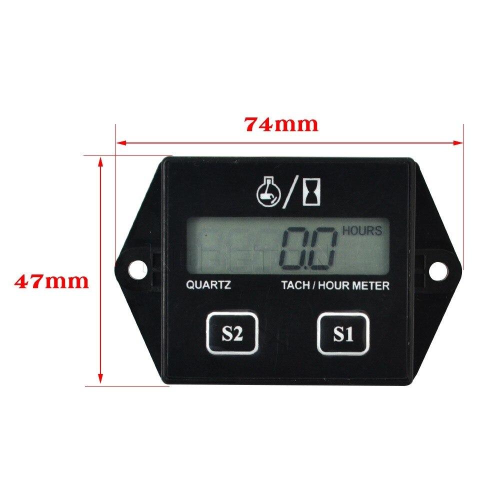 Digital Tachometer Hour Meter 24 Stroke Engine LCD Display Spark – Digital Tachometer Wiring Spark Plug