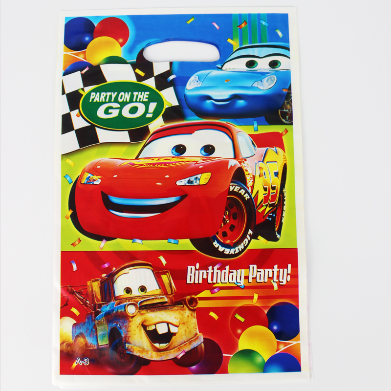 First Birthday Boy Party Loot Bag Single: Car Theme Boy Girl Baby Happy Birthday Party Decoration