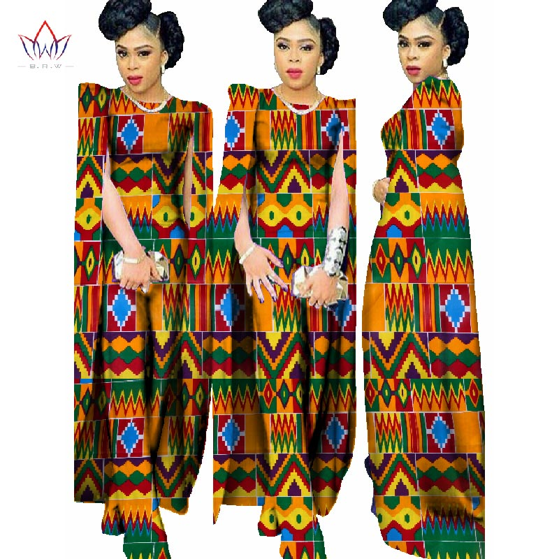 2018 Јесен Африка Восак Штампа Ромперс - Женска одећа