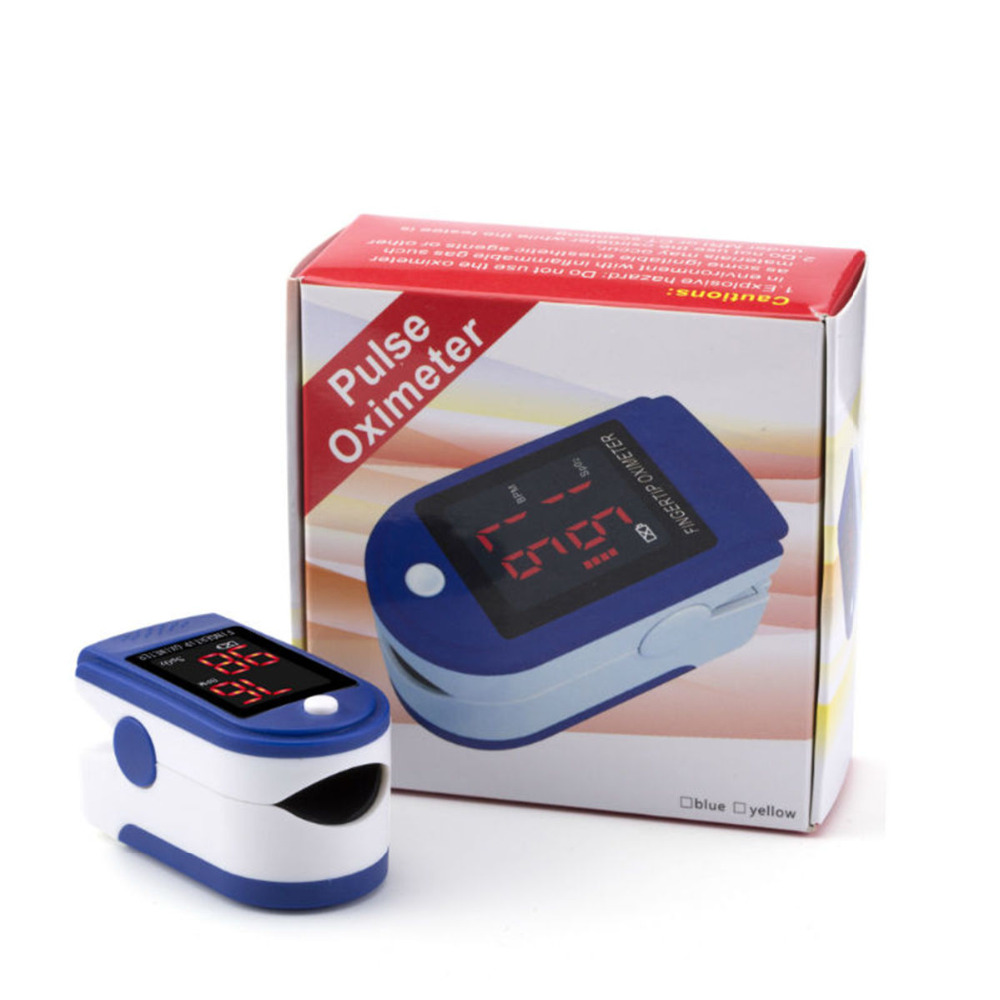 Fingertip Pulse Rate Thermometer Oximeter Spo2 And PR Heart Monitor Digital Display Finger Pulsometro Bodys Treatments