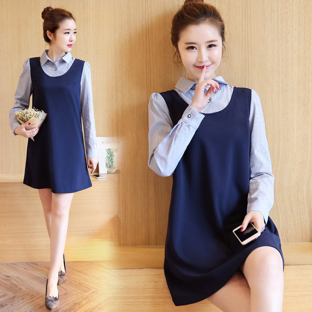 Pengpious Autumn Pregnant Women Turn Down Collar Shirts Long Sleeve Office Lady Formal Blouses Work