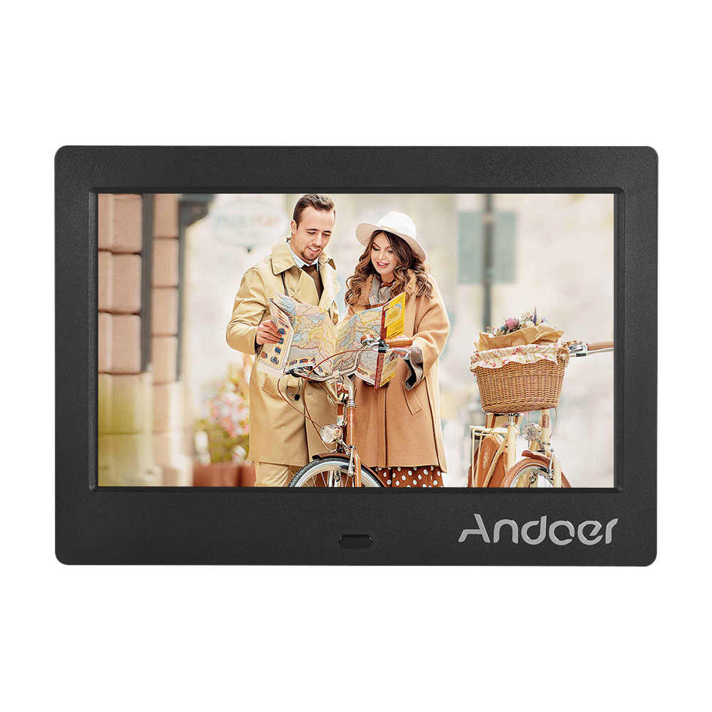 Andoer 7 Inch Photo Frame Digital HD Digital Album Digital Picture Frame Support Music Video Playing