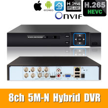 6 in 1 8ch*5M-N/4M-N AHD DVR Surveillance Security CCTV Video Recorder 1080N Hybrid DVR For Analog AHD CVI TVI IP cameras XMEYE(China)