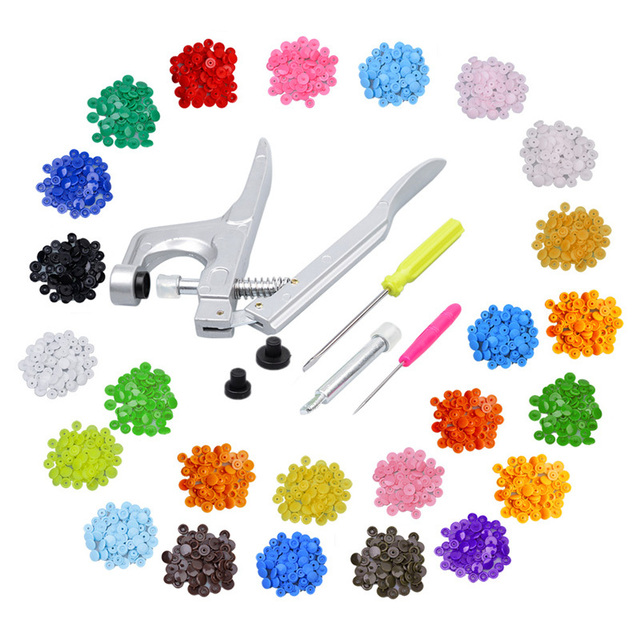 25 Colors Mash up 350 Sets KAM T512mm scrapbooking Plastic Snap Buttons &Snap Pliers For Fastener Used For Diaper DIY Kit Mixing