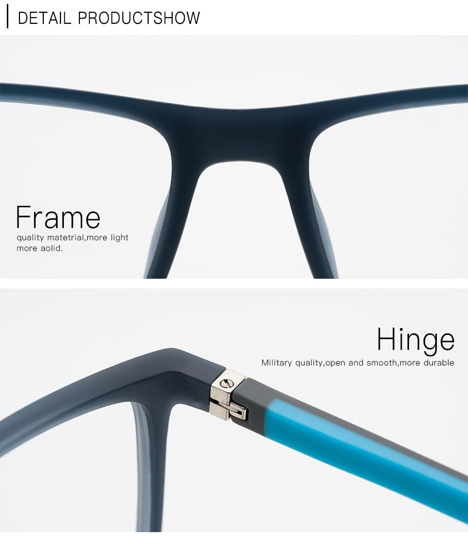 f77748e0b39 ... TR90 Men Prescription Glasses With Diopter Blue Light Transition Lens  For Sight Progressive Fashion Spectacle Frame ...