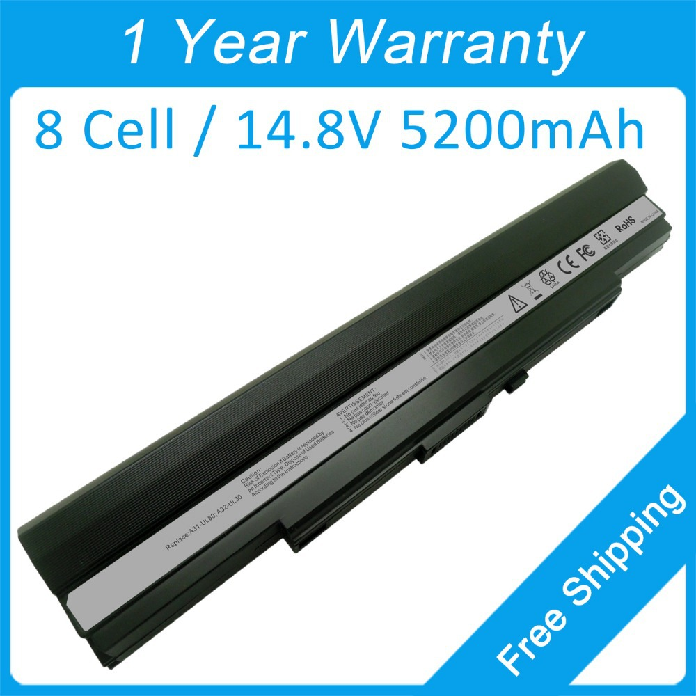 5200mah laptop battery A41-UL80 A41-UL30 for asus UL30 UL30A UL30AT UL50A UL50Ag UL50AT UL50V UL80A UL80J UL80E UL80V U30KI