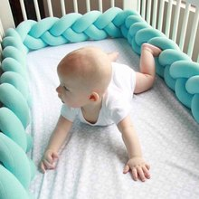 1M/2M/3M Baby Handmade Nodic Knot Newborn Bed fence Long Knotted Braid Pillow Baby Bed fence Protector Infant Room Decor все цены