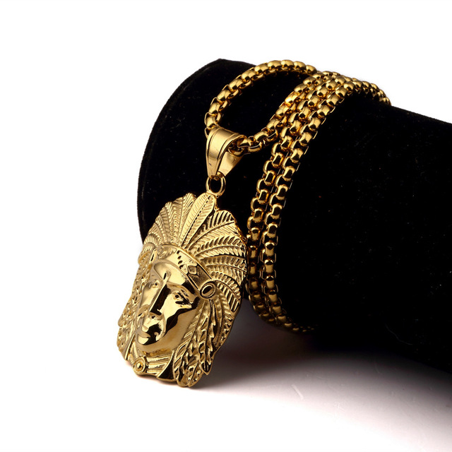 HIPHOP Jewelry Men Hip Hop Gold Chain Necklaces Pendants Fashion