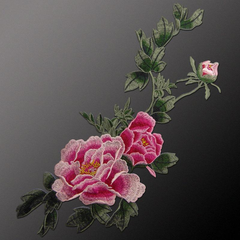 AHYONNIEX markë e qepur në Peony Flower Patches Lule Decal Sticker - Arte, zanate dhe qepje - Foto 4