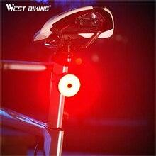 WEST BIKING Bicycle Light USB Charging Waterproof Taillight Bike Rear Lamp Safety Warning Seatpost Lantern