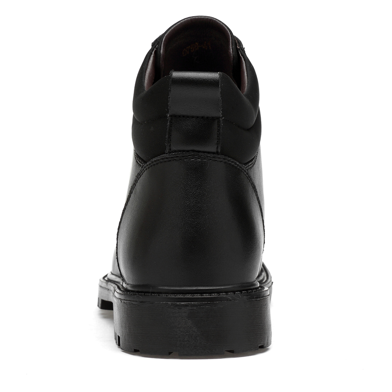 black Plein Taille Chaussures Plus De Fur Bottes La Lacets Cuir D'hiver Mode Air Hommes En Automne Black Fur No Hiver À Étanche fwFOHx4nF