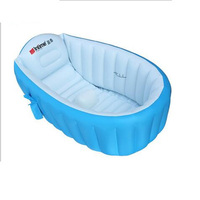 Portable bathtub inflatable baby bath tub Child tub cushion + Foot air pump warm warm folding Portable bathtub 98X65X28cm