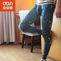 Hombres Bajo la Cintura los Pantalones Pantalones Calientes de La Moda Ropa de Algodón Sección Delgada Sexy Leggings Flaco Joggers Impresión Yeezy Boost