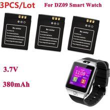 1 шт./3 шт. 380 мАч Смарт-часы литий-ионный полимерный аккумулятор для DZ09 Смарт-часы батарея для KSW-S6 RYX-NX9 A1 Смарт-часы