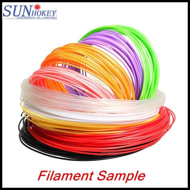 2016 DIY 3d printer filament PLA/ABS 1.75mm 3D Pen MakerBot RepRap plastic Rubber Material for 3D filament printing