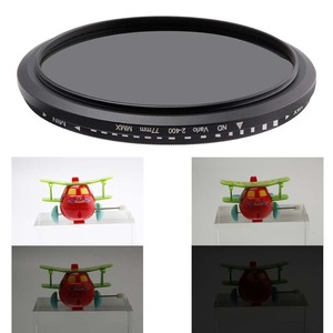 Image 4 - מצלמה מסנן אופטי זכוכית ND2 400 צפיפות ניטרלי מדעך משתנה ND מסנני מתכוונן 30mm 37mm 40.5mm 43mm 49mm אוניברסלי ND