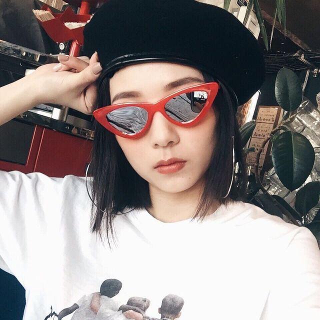 e203711cbf Superhot Eyewear - Red Mirrored Cat Eye Sunglasses Women Brand Designer  Cateye Sun glasses Shades cute sexy Female Lady Sunnies