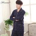 2017-The nuevos hombres pijamas de manga larga solapa cardigan trajes R210 sonriente impresa letra de algodón 's de servicio a domicilio