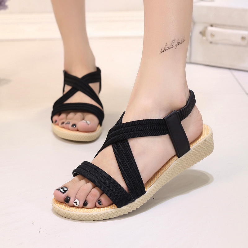 New Summer Women Sandals Bohemia Comfortable Ladies Shoes Beach Gladiator Sandal Women Casual Shoes Simple Female Shoes BT585 casual bohemia women platform sandals fashion wedge gladiator sexy female sandals boho girls summer women shoes bt574