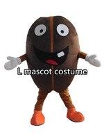 Professionale chicco di caffè del costume della mascotte formato adulto fancy dress cartoon partito vestito spedizione gratuita