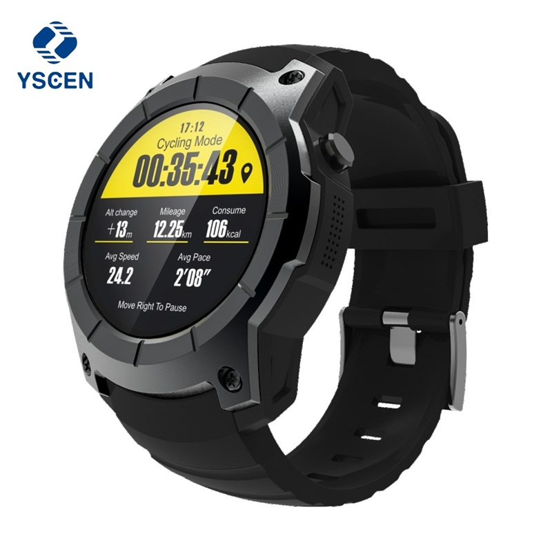 YSCEN GPS Smart Watch S958 Pedometer Fitness Tracker Heart Rate Monitor Smartwatch Sports Waterproof Watch Support SIM TF Card samsung clearcover чехол для galaxy a7 sm a710f silver