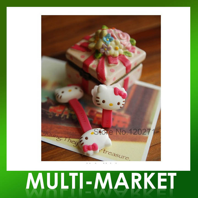 Free shipping/2pcs/set New Hello Kitty Earphone Cable Winder Wire Management Rolling-up Device For Gift Wholesales