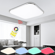 Dimmable LED Ceiling Lamps Modern Design 24W-96W RGB Lighting Fixture Indoor Kitchen Bedroom Living Room цена