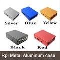 5 Cores 1 PC Raspberry Pi 3 caixa De Alumínio De Metal-Ultrafinos!! alta Qualidade!! bom preço!! para Raspberry Pi 2 & B plus & 3