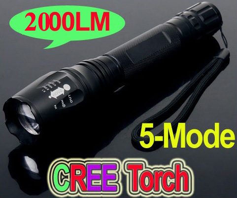 2000 Lumens Lanternas Led Torch CREE XM-L T6 Led Flashlight 18650 Torch Rechargeable With Charger Linternas Powerful Light e17 cree xm l t6 2400lumens led flashlight torch adjustable led flashlight torch light flashlight torch rechargeable