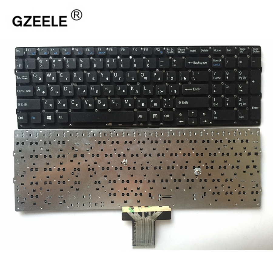GZEELE Russia FOR SONY VPC-EB VPCEB VPC EB Pcg-71211v RU Laptop Keyboard Without Frame PCG-61212T 71212T 61211 71311T EB18 EB27