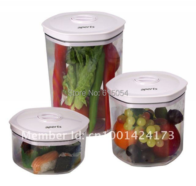 Premium Quality Vacuum Container/Conister Kits 3PCS, work with vacuum sealer,Comply with EuropeAmerican food safety requirement