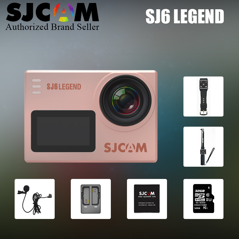 Original SJCAM SJ6 LEGEND WiFi Action camera 4K 24fps Notavek 96660 Ultra HD Sport Waterproof Camera 2.0 Touch Screen Sports DV in stock sjcam legend sj6 wifi notavek 96660 4k 24fps ultra hd waterproof camera action cam 2 0 touch screen remote sport dv