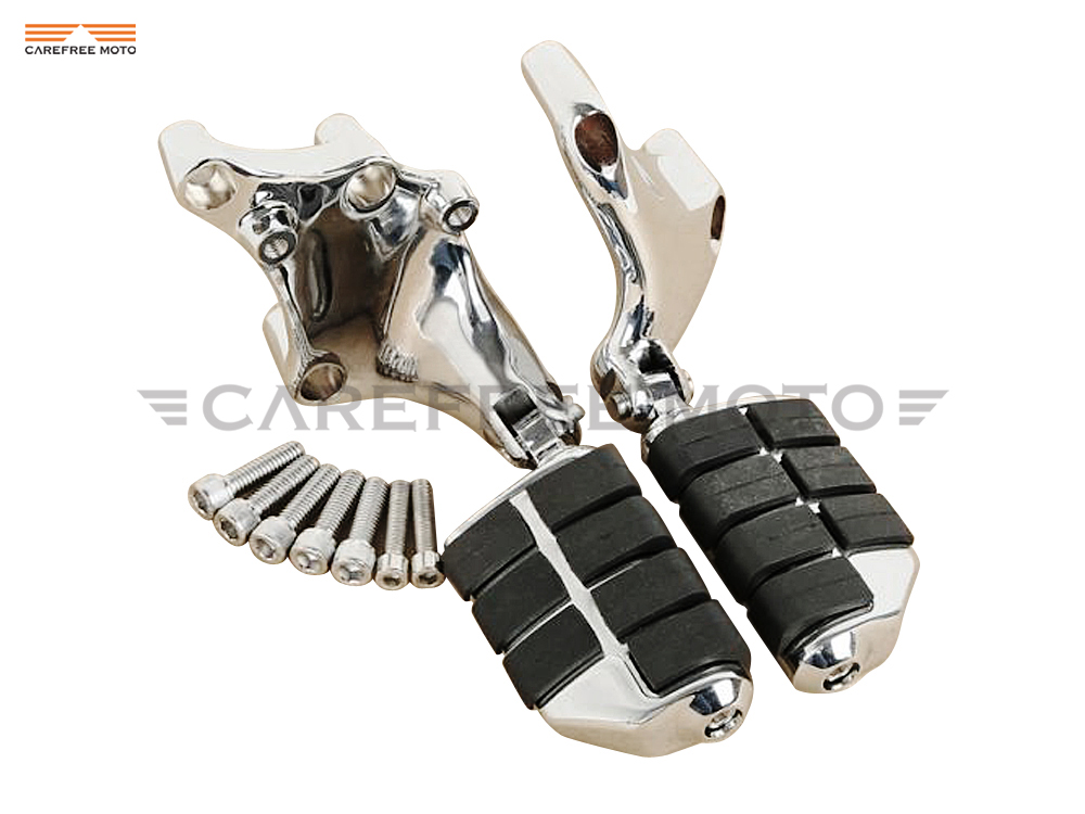 Chrome Lion Paw Motorcycle Foot Pegs & Mount Brackets Moto Foot Rest case for Harley 883 1200 XL Sporster 2014 2015 2016 2017