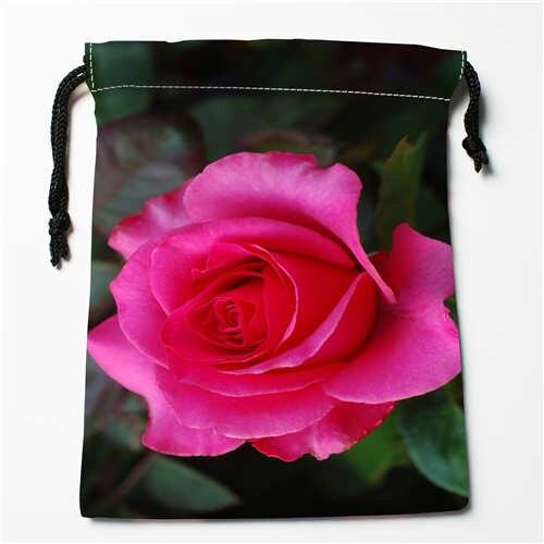 Custom Printing Rose-flower 1 Drawstring Shopping Bags Travel Storage Pouch Swim Hiking Toy Bag Unisex Multi Size18-12-05-104