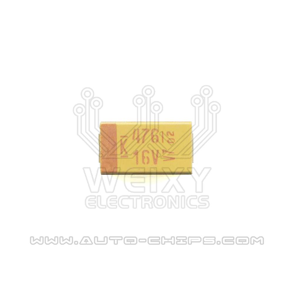 476 16V Capacitor use for automotives