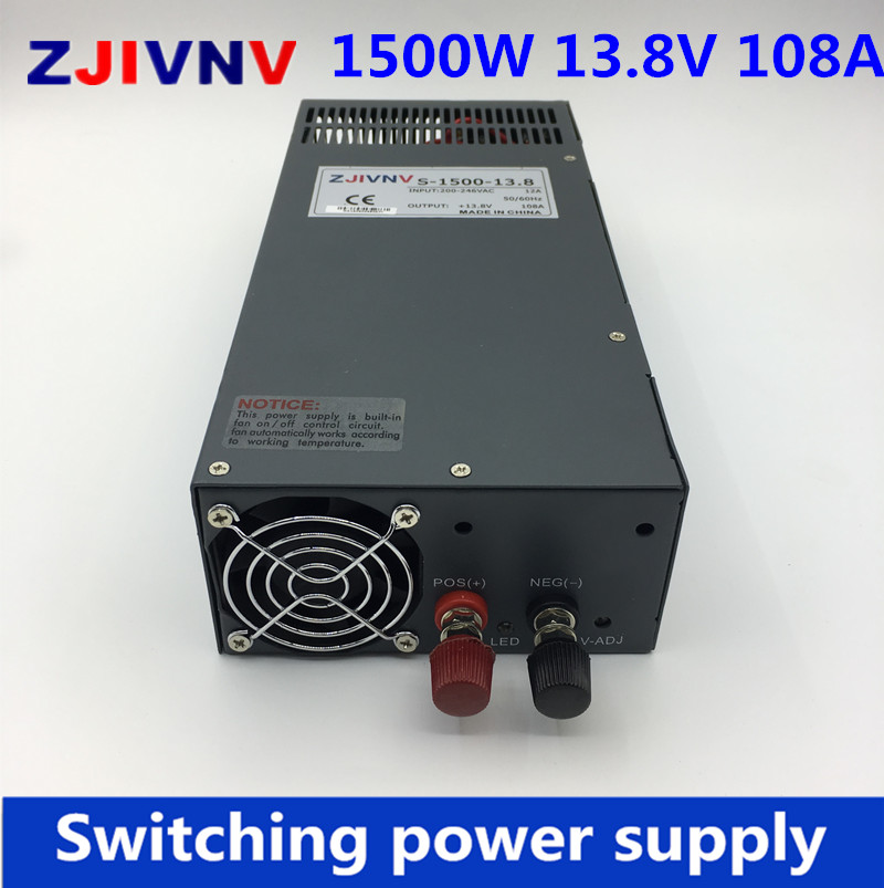 S 1500 13 8V Switching Power Supply 1500W 13 8V 108A Single Output Ac Dc Power